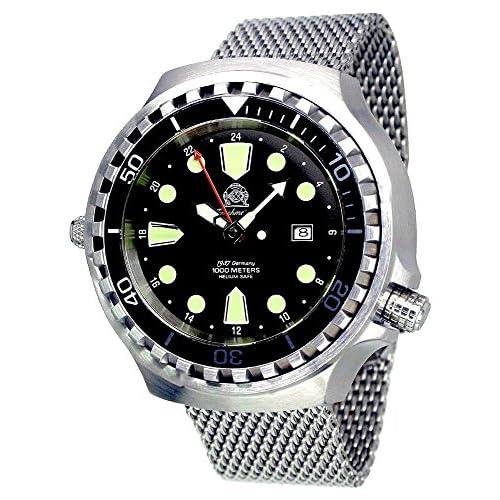 [トーチマイスター1937]Tauchmeister1937 腕時計 ドイツ製 大型重厚 1000M耐水圧 24時間表示 自動巻き ダイビング T0268MIL [並行輸入品]
