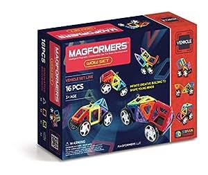 ボーネルンド マグ・フォーマー (MAGFORMERS) 乗り物セット16ピース MF707004