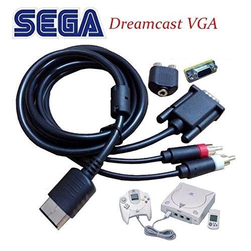 【ドリームキャスト VGA ケーブル】- DC VGA Cable [延長ケーブル付き!] [CXD1120] [並行輸入品]