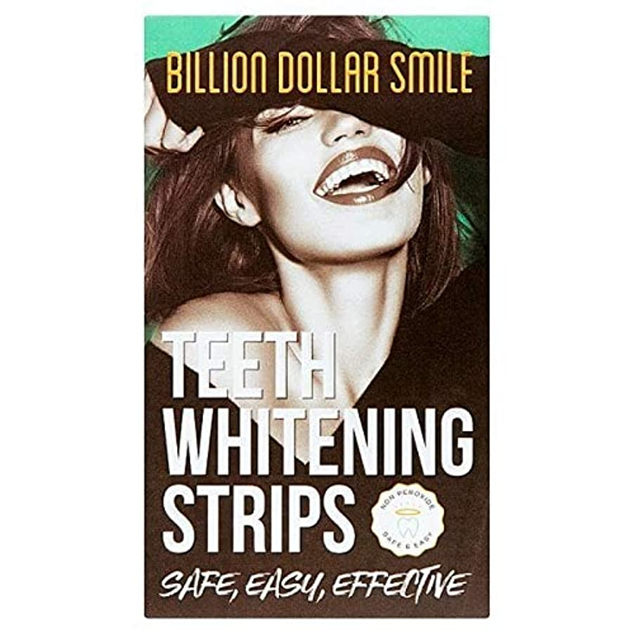 シンプルさ真向こう他の場所[Billion Dollar Smile] 数十億ドル規模の歯のホ??ワイトニングストリップ×28 - Billion Dollar Teeth Whitening Strips x 28 [並行輸入品]
