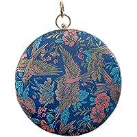 ACVIP Women's Phoenix Embroided Fancy Chinese Wristlet Clutch Chain Handbag Mini