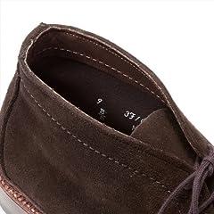 Unlined Chukka Boot: Dark Brown Suede