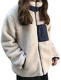 HiCollie ボアブルゾン レディース ボアジャケット フリース アウター コート 秋冬 アウターコート もこもこ 防寒コート ゆったり 暖かい アウトドア 胸ポケット カジュアル