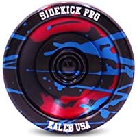 Black Red Blue Splashes Yo-Yo Professional Aluminum Sidekick Pro YoYo [並行輸入品]