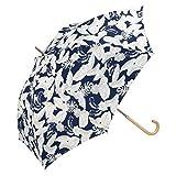 w.p.c(w.p.c) 【長傘】ボタニカル/軽くて丈夫で持ちやすい(レディース雨傘)【ネイビー/58】