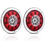 Qiilu ブレーキライト ストップランプ LED テールランプ ブレーキライト 12-24V 4.3インチ 赤と黄色