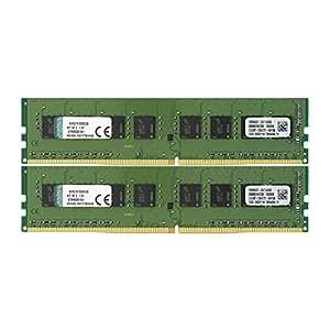 キングストン Kingston デスクトップPC メモリ DDR4 2133 (PC4-17000) 4GB×2枚 CL15 1.2V Non-ECC DIMM  288pin KVR21N15S8K2/8 永久保証