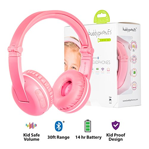 【国内正規品】Onanoff(オナノフ) BuddyPhones 子供の耳にやさしい音量制限構造 (プレイ,ピンク) 749227