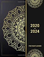 5 Year Planner 2020 - 2024: Lucky Flower 5 Year Planner Calendar Book 2020-2024 Size 8.5 x 11 Inch