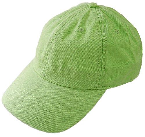 (ニューハッタン) NEWHATTAN CAP キャップ ベースボールキャップ 帽子 無地 カーブキャップ (FREE, LIME GREEN) [並行輸入品]