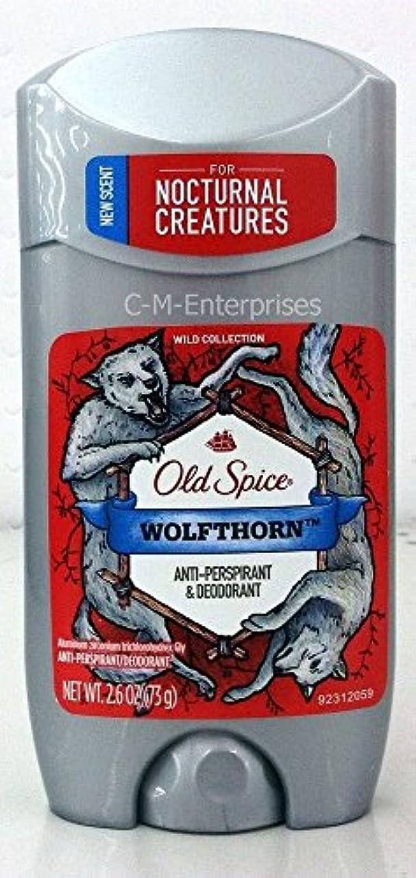 スパーク絞る一節【アメリカ直送】オールドスパイス デオドラントスティック ウルフソーン 73g Old Spice WOLFTHORN Anti-Perspirant & Deodrant (0.26oz)