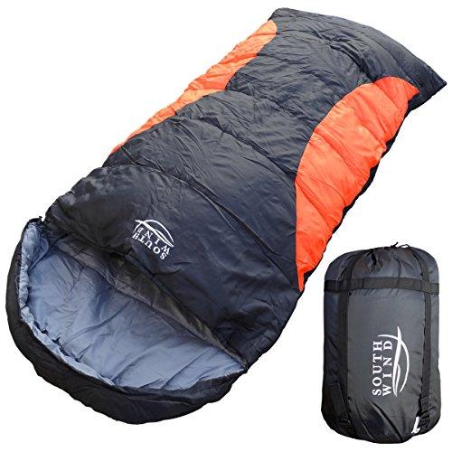 【SOUTH WIND】丸洗いのできる BIGサイズ 寝袋 シュラフ 封筒型 耐寒温度 -5℃ コンパクト収納 オールシーズン