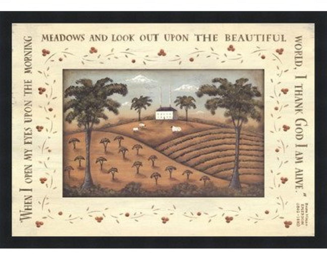 扇動するキャップ店員朝Meadows by Donna Atkins – 28 x 22インチ – アートプリントポスター LE_248090-F101-28x22