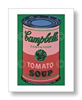 アンディ・ウォーホル Andy Warhol: Colored Campbell's Soup Can, 1965 (red & green) アートポスター