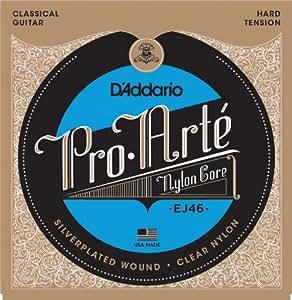 D'Addario ダダリオ クラシックギター弦 プロアルテ Silver/Clear Hard EJ46 【国内正規品】