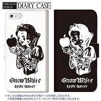 301-sanmaruichi- Galaxy S9 ケース SC-02K SCV38 カバー ギャラクシー S9 ケース 手帳型 おしゃれ SNOW WHITE PRINCESS プリンセス 白雪姫 rock tattoo B 手帳ケース SUMSUNG