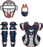 ZETT(ゼット) 野球 軟式 キャッチャー 防具4点セット BL316 ネイビー/レッド