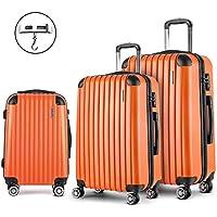 Wanderlite Luggage Suitcase Set 3 Pcs 20'' 24'' 28''