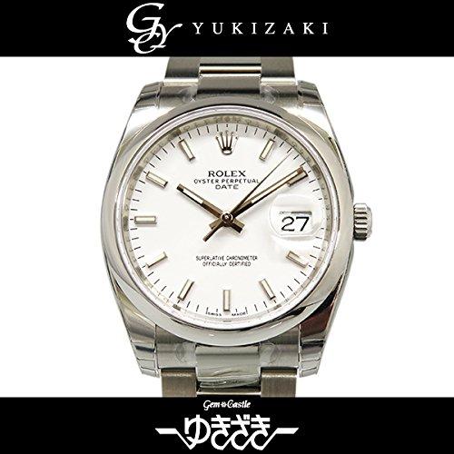 ロレックス オイスターパーペチュアル デイト 115200 ホワイト メンズ 腕時計 [並行輸入品]