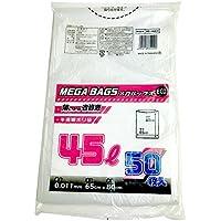 日本技研工業 メガバッグス ゴミ袋 半透明 45L 厚み0.011mm 薄くても丈夫 省資源 ME-45EH 50枚入