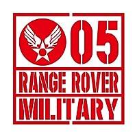 ミリタリー RANGE ROVER レンジローバー カッティング ステッカー レッド 赤
