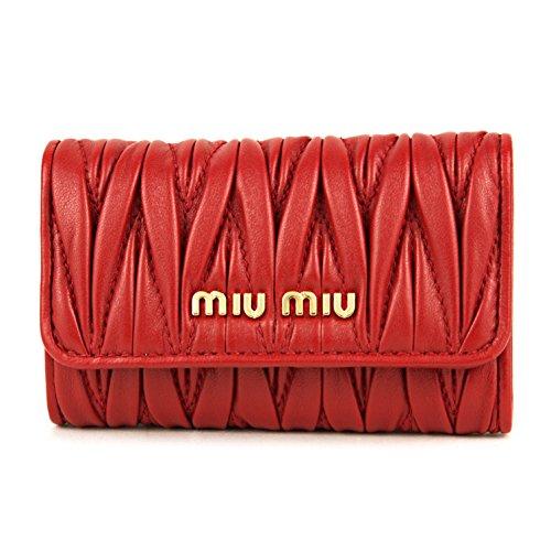 ミュウミュウ(MIU MIU) キーケース 5PG222 2BPU F068Z マテラッセ レッド 赤 [並行輸入品]