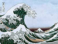 ArtVerse HOK027A3648A The Great Wave In Green and Blue Removable Art Decal 36 x 48 [並行輸入品]