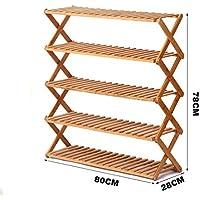 靴ラックナチュラル竹木製シンプルな靴ラックストレージオーガナイザーホルダー多層折りたたみ多機能ストレージシェルフ