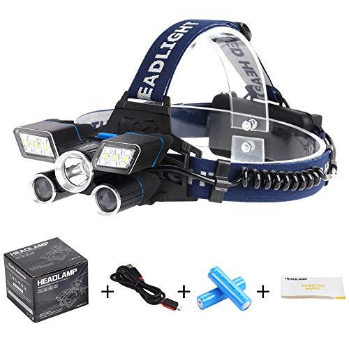 BONERY(ボーナリ)新型LED充電式ヘッドライト超高輝度8000ルーメン 9モード点灯 防災防犯 最長24時間点灯 USBケーブルと18650バッテリ付き【令和時代の新商品】