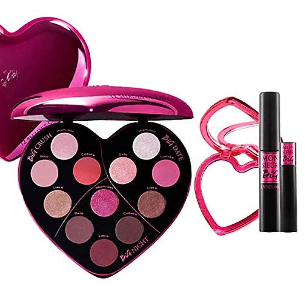 転用ウェーハ刺繍ランコム(LANCOME), 限定版 limited-edition Monsieur Big Heart-Shaped Eyeshadow Palette + Monsieur Big Birthday Mascara...