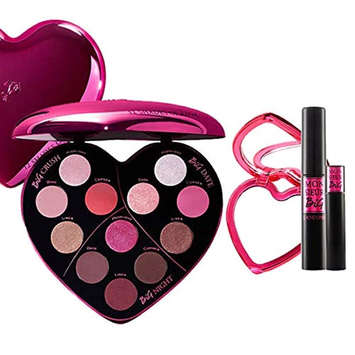 満員遊びますすなわちランコム(LANCOME), 限定版 limited-edition Monsieur Big Heart-Shaped Eyeshadow Palette + Monsieur Big Birthday Mascara...