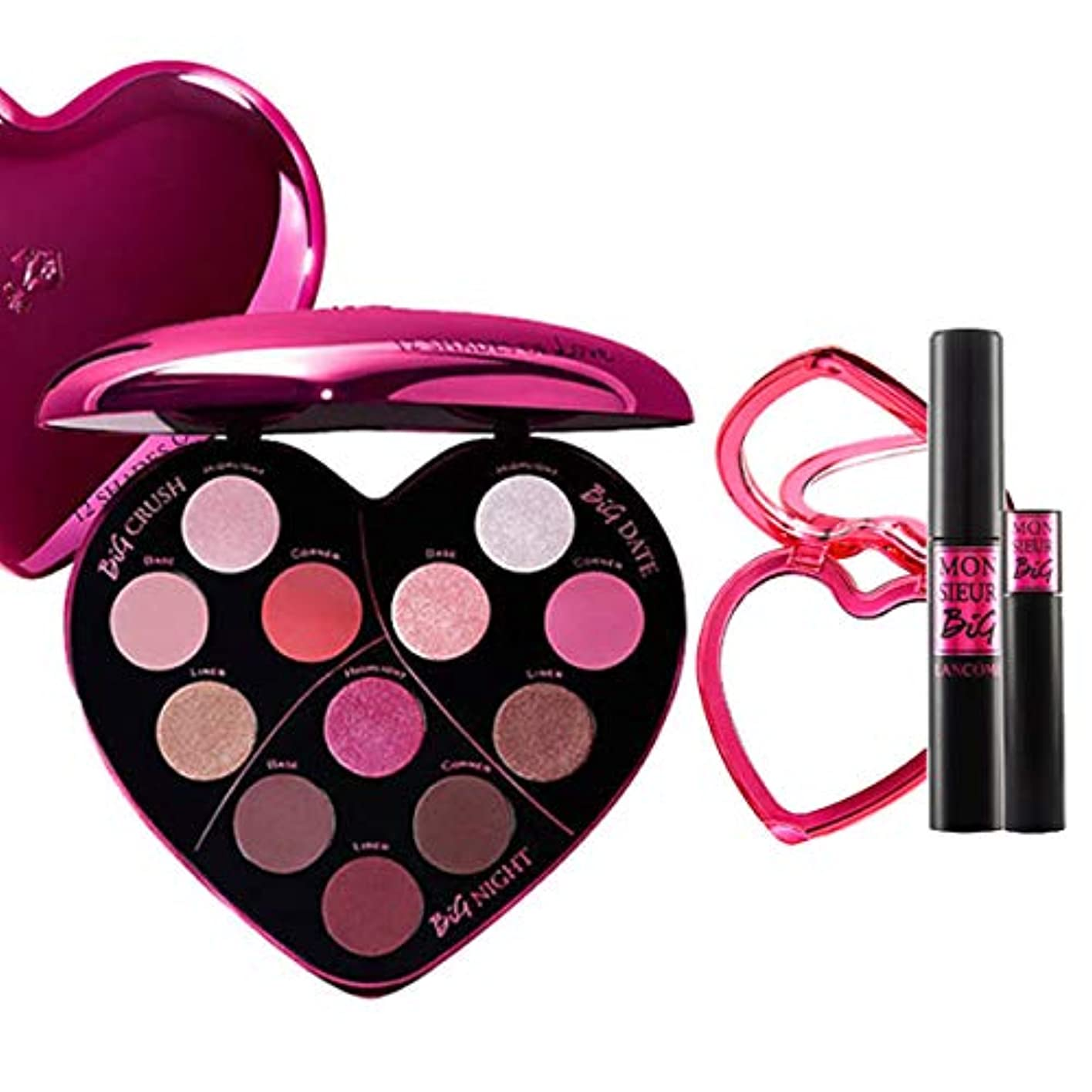 必須耐えられるつなぐランコム(LANCOME), 限定版 limited-edition Monsieur Big Heart-Shaped Eyeshadow Palette + Monsieur Big Birthday Mascara...
