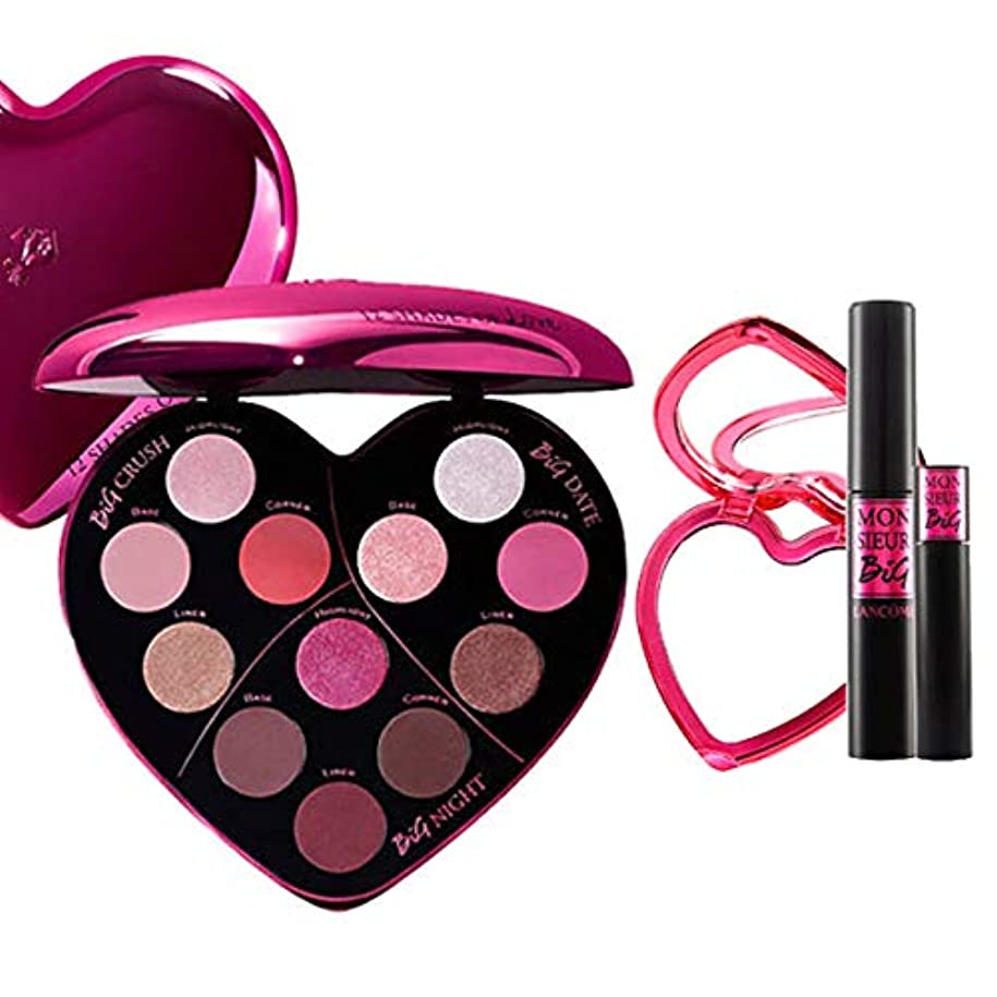 花瓶同様の巨人ランコム(LANCOME), 限定版 limited-edition Monsieur Big Heart-Shaped Eyeshadow Palette + Monsieur Big Birthday Mascara Set [海外直送品] [並行輸入品]