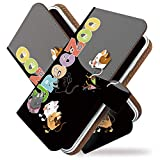 isai LGL22 ケース 手帳型 ネコ 肉球 クロ 猫 ネコ クラッカー 手帳 カバー イサイ LGL 22ケース LGL 22カバー 手帳型ケース 手帳型カバー ねこ柄 キャット [ネコ 肉球 クロ/t0188]
