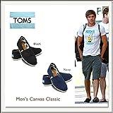 TOMS shoes MENS CANVAS CLASSICS(トムスシューズ メンズキャンパスクラシック)[黒/紺][エスパドリーユ][スリッポン]