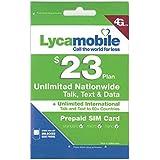 アメリカ・ハワイSIM lycamobile 初月料金コミコミパック LTE通信1GB・通話・テキスト・データ・国際通話も全部コミコミ!