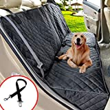 Henkelion Dog Seat Cover Back Seat Covers for Dogs,100% Waterproof Nonslip Beach Dog Car Seat Cover for Cars with Armrest Fits Cars Trusks SUVs Black