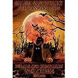 Salem Sanctuary for Wayward Cats Halloween Cat Pumpkin Tin Sign Retro Style Miller Beer Bar Den Halloween Painting Metal 8x12