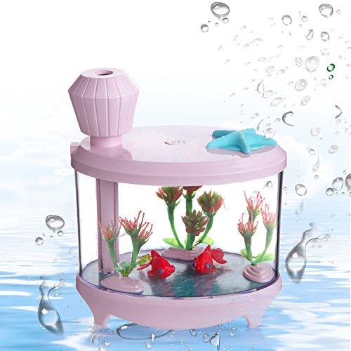 お魚加湿器 by Azmall 水槽風 USB 小型大容量 ...