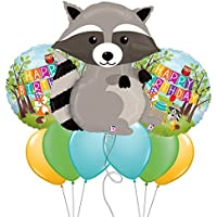 RaccoonウッドランドクリッターテーマMylar Balloon Bouquet byパーティー爆発