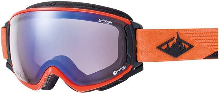 SWANS(スワンズ) スキー スノーボード ゴーグル くもり止め プレミアムアンチフォグ搭載 紫外線で色が変わる調光ULTRAレンズ 撥水加工 ROVO RVCUMDHSCP ROVO-CU/MDH-SC-PAF_OR オレンジ/アイスミラー×ULTRAライトパープル調光