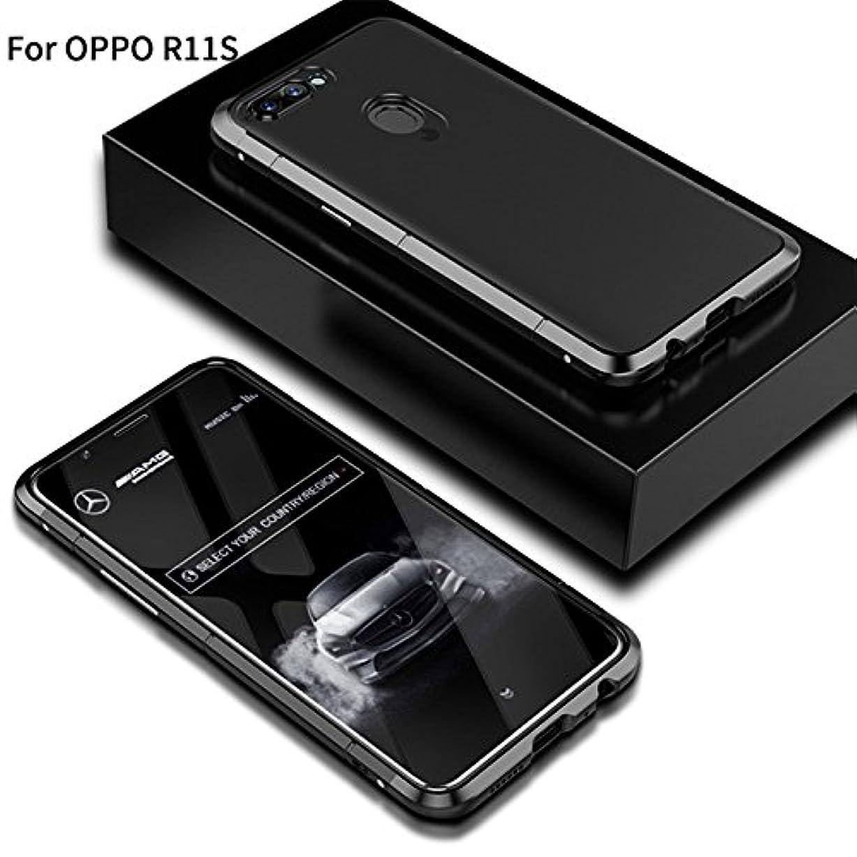 レンダリング困難食品Jicorzo - OPPO R11SシェルCoqueのために1メタル+プラスチックでOPPO R11SハードPCケース3については360フルカバレッジラグジュアリーデザイン5.5インチ