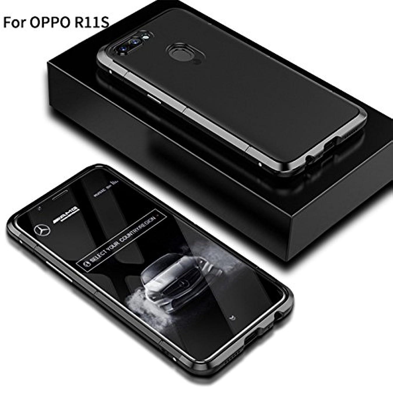 注目すべきぶら下がる容疑者Jicorzo - OPPO R11SシェルCoqueのために1メタル+プラスチックでOPPO R11SハードPCケース3については360フルカバレッジラグジュアリーデザイン5.5インチ
