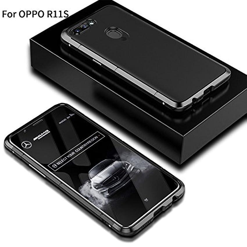 屋内でラバ敷居Jicorzo - OPPO R11SシェルCoqueのために1メタル+プラスチックでOPPO R11SハードPCケース3については360フルカバレッジラグジュアリーデザイン5.5インチ