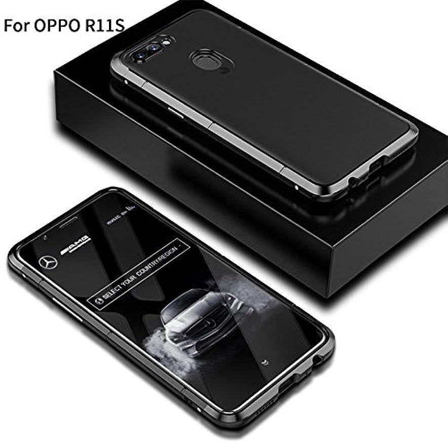 州陽気なモットーJicorzo - OPPO R11SシェルCoqueのために1メタル+プラスチックでOPPO R11SハードPCケース3については360フルカバレッジラグジュアリーデザイン5.5インチ