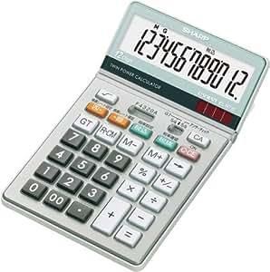シャープ グラストップ調デザイン電卓 マルチ換算・早打ち・アンサーチェック機能搭載 ナイスサイズタイプ 12桁 EL-N732-X