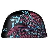 MIZUNO(ミズノ) 競泳 スイムキャップ 水泳帽 2WAYシリコーン N2JW656497 ブラック×パープル