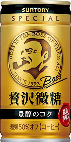 サントリー コーヒー ボス 贅沢微糖 185g×30本 -