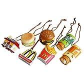 ハンバーガーや看板がちっちゃくなってオーナメントに。【マクドナルド オーナメント5Pセット】