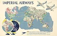 インペリアルAirwaysヴィンテージポスター(アーティスト: Gardner ) UK C。1937 12 x 18 Art Print LANT-73758-12x18